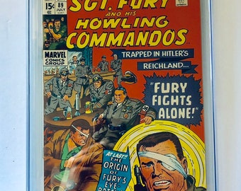 Sgt. Fury and His Howling Commandos, CGC Graded 9.2, Vintage Marvel Comic Books 1989, Antique Alchemy