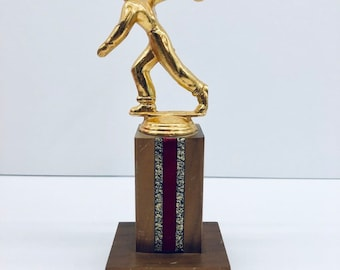 Vintage Men's  Bowling Trophy Award, Antique Alchemy