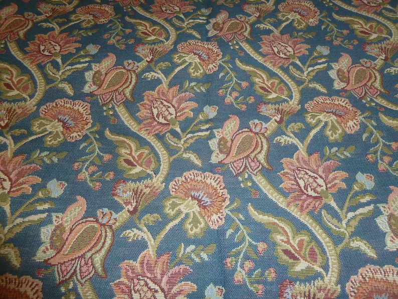 Floral Fabric Design Upholstery Weight Fabric for CraftsHome Decor Floral Design Duralee Upholstery Designer Fabric Bundle Blueberry
