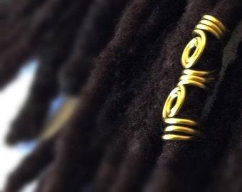 Wire Wrapped Hair Bead Dread Locs Dreadlock Braids Twist Jewelry Hair Accessory, Loc Jewelry