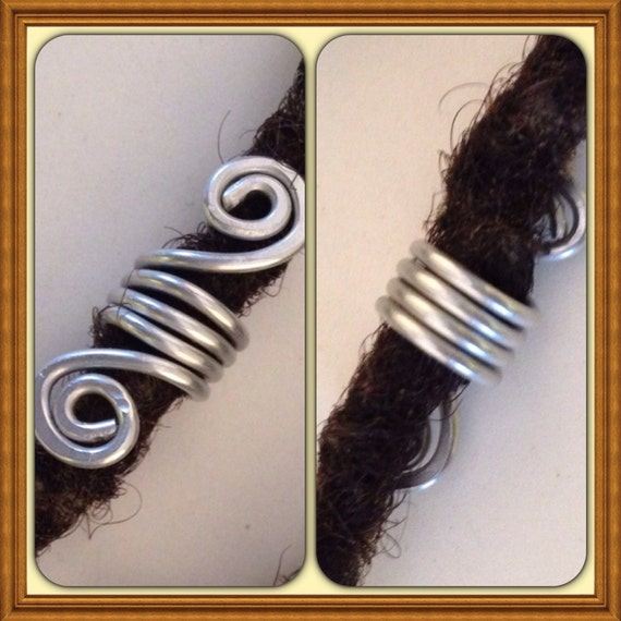 Silver  Dreadlock Bead Accessories Natural Hair Gift