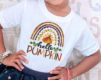 Hello Pumpkin T-Shirt, Fall Shirt