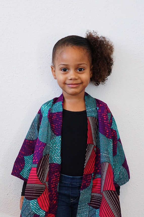 Mommy & Me Kimono Jacket Cardigan // Ankara African Fabric // WOMENS // Pink Purple Turquoise