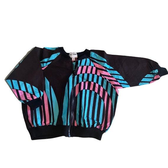 Girls African Print Bomber Jacket // Brown/black blue and pink  Ankara // Toddler Kids size 2T // SAMPLE SALE