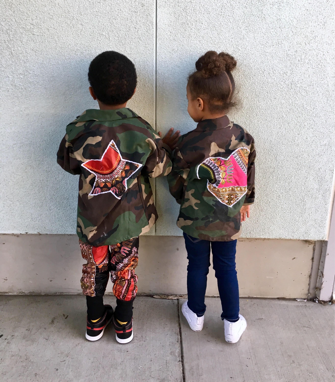 96ee2fc46 Kids Toddler Camo Camouflage Jacket Coat // Dashiki Ankara | Etsy