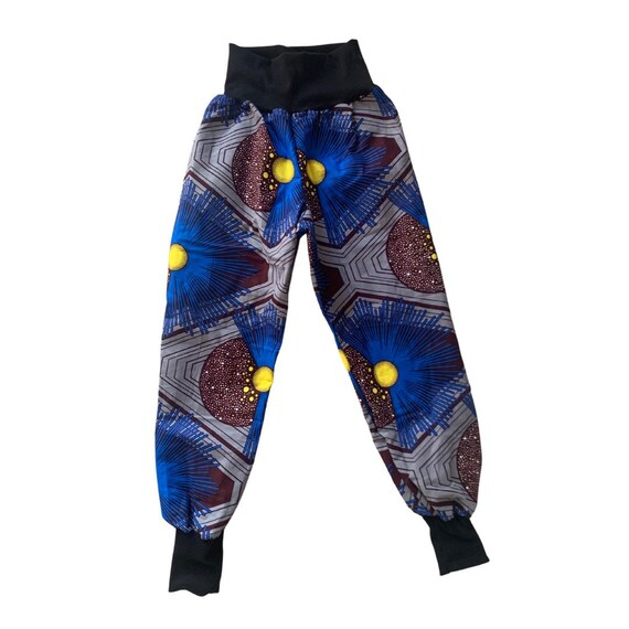 African Ankara Print Boys Jogger Pants Joggers // Blue Brown Black Ankara Print // African Baby Toddler Kids Clothes