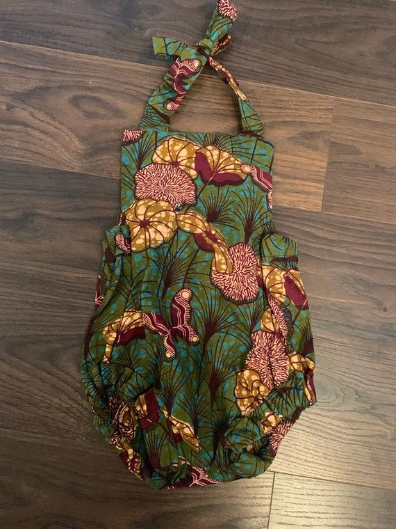 Kids Girls Ankara African Print Romper Outfit  // Baby Toddler Dashiki Ankara Fabric // SAMPLE SALE RTS // various sizes & prints