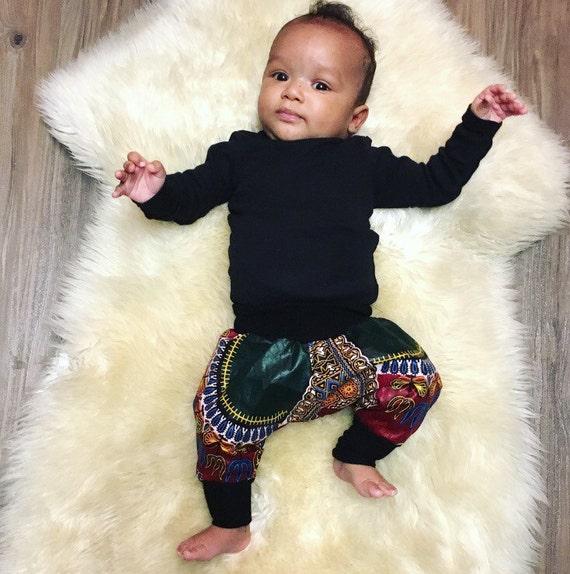 African Ankara Print Toddler Kids Baby Boy Jogger Pants // African Baby Gift // African Boys Outfit // RED DASHIKI - sizes nb-9/10