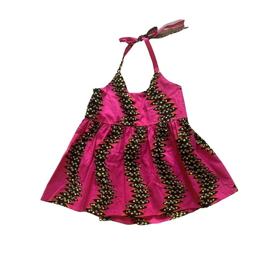 WOMENS African Ankara Print Tank Top // size small  // hot pink black yellow african print // SAMPLE SALE
