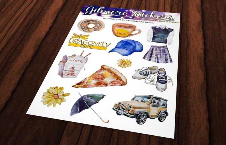 Rory Gilmore  Sticker Set  Planner Stickers  Erin Condren   4 Sheets Stickers  Gilmore Girls Stickers  Lorelai Gilmore