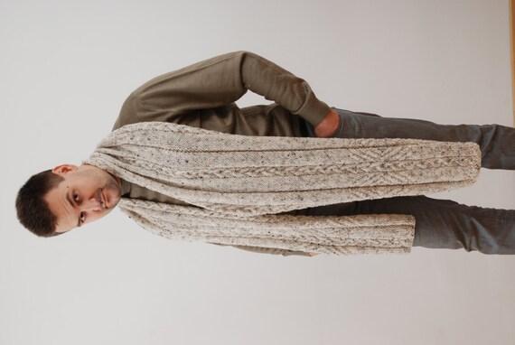 Extra longue écharpe pour homme. Echarpe en laine épaisse.   Etsy 5a69e9ab1b8