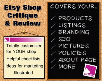 Shop Critique and Review - Detailed Review of your Etsy Shop and Business - Help Improve Your Sales  Store SEO Help