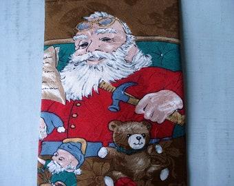 Santa's Workshop tie - silk