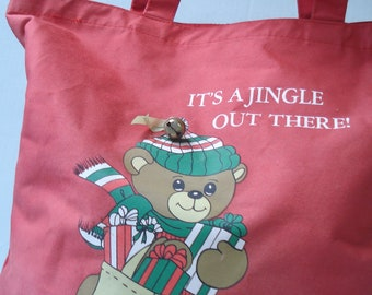 It's a jingle out there - cutest Christmas tote - 1988