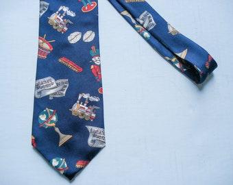 Christmas tie - festive Christmas elements - Van Heusen - silk