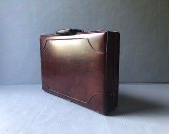 Gorgeous oxblood briefcase - combination locks
