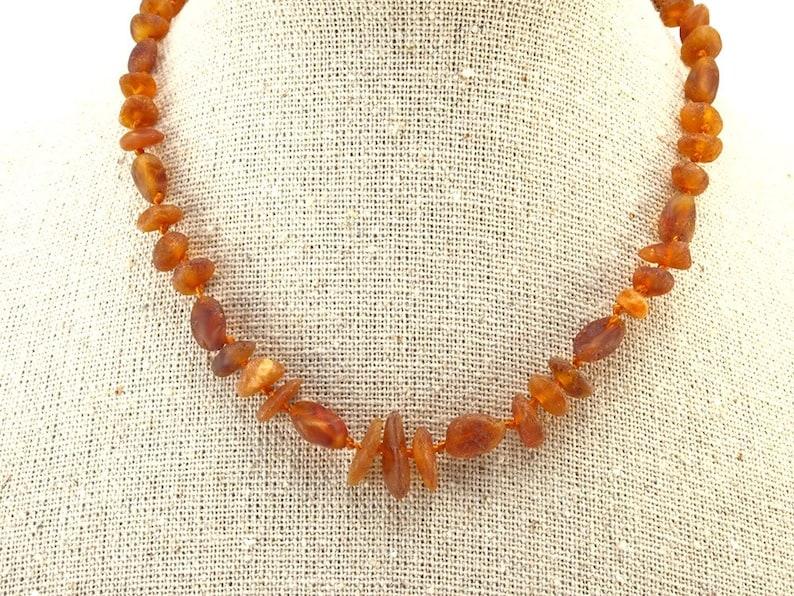 Baltic Amber Necklace Teething Baby Toddler Child Mixed Unpolished Honey Beads