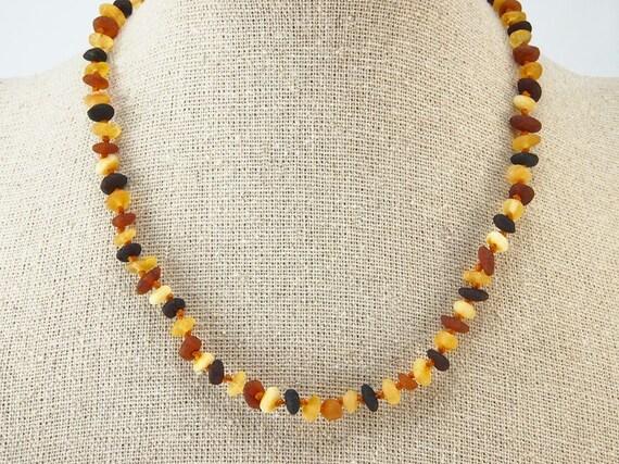 Echter baltischen Bernstein Halskette 200 cm regenbogen