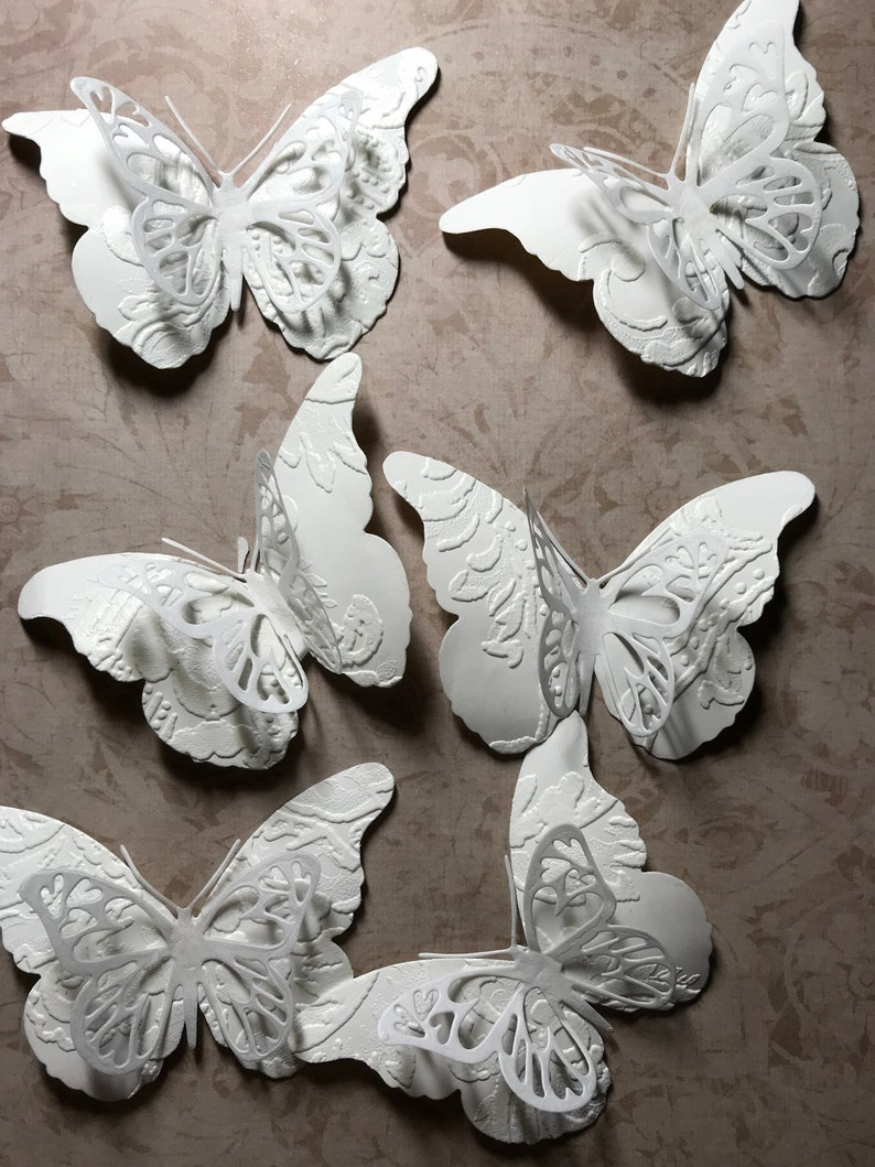 Pack Of 6 Large Steampunk Dragonfly Die-Cuts White NEW