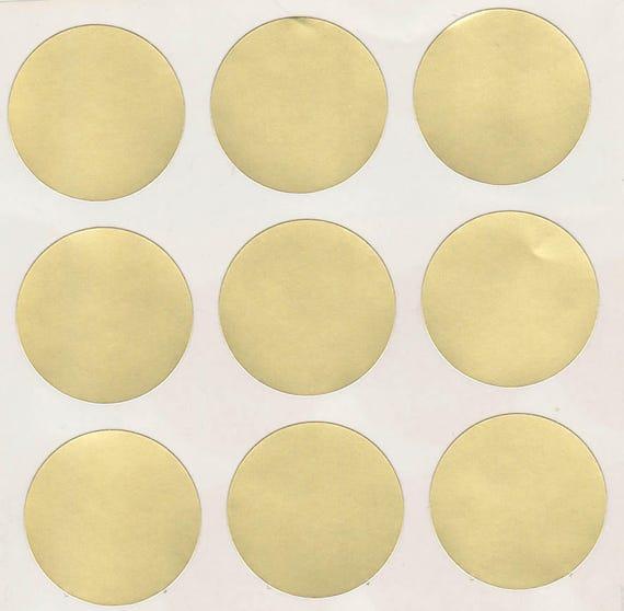 36 gold matte round stickers 1 25 inch envelope stickers etsy