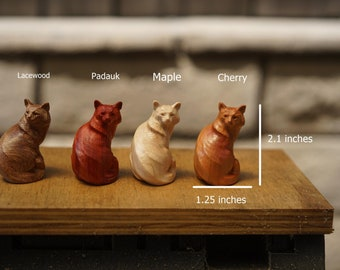 Miniature Wooden Cat Figurines. Mix and match from different styles ad species of wood.