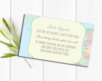 Hot Air Balloon Baby Shower Book Insert || Printable File