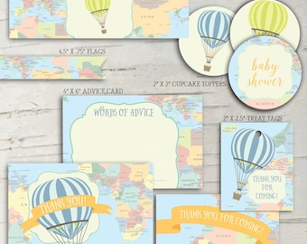 Hot Air Balloon Baby Shower Party Pack