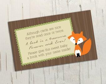 Woodland Animals Baby Shower Book Insert || Printable File