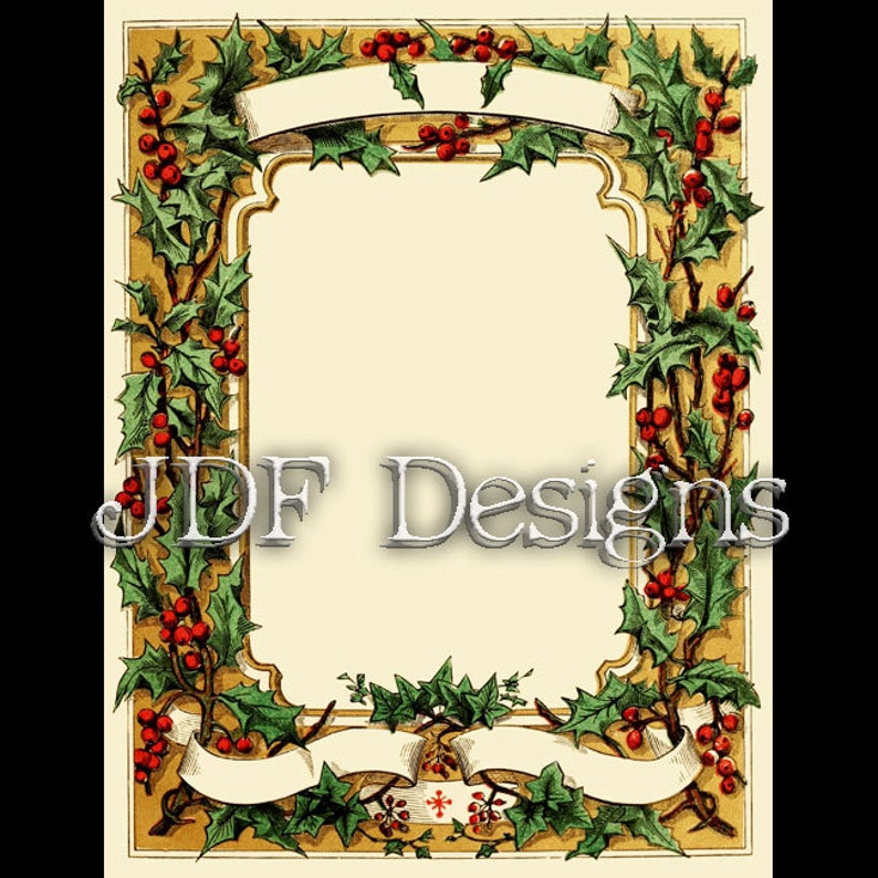 Instant Digital Download Antique Victorian Graphic Christmas image 0