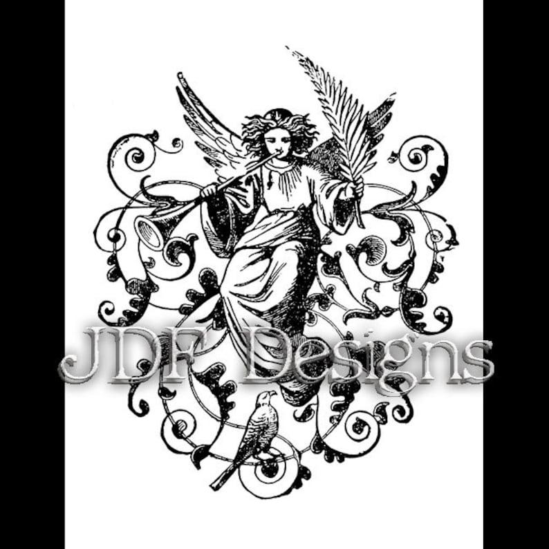 Instant Digital Download Vintage Victorian Era Graphic Angel image 0