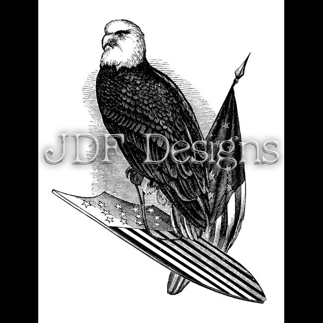 Instant Digital Download, Vintage Victorian Graphic, Patriotic Bald Eagle,  American Flag, Shield Printable, Scrapbook, Americana July Fourth