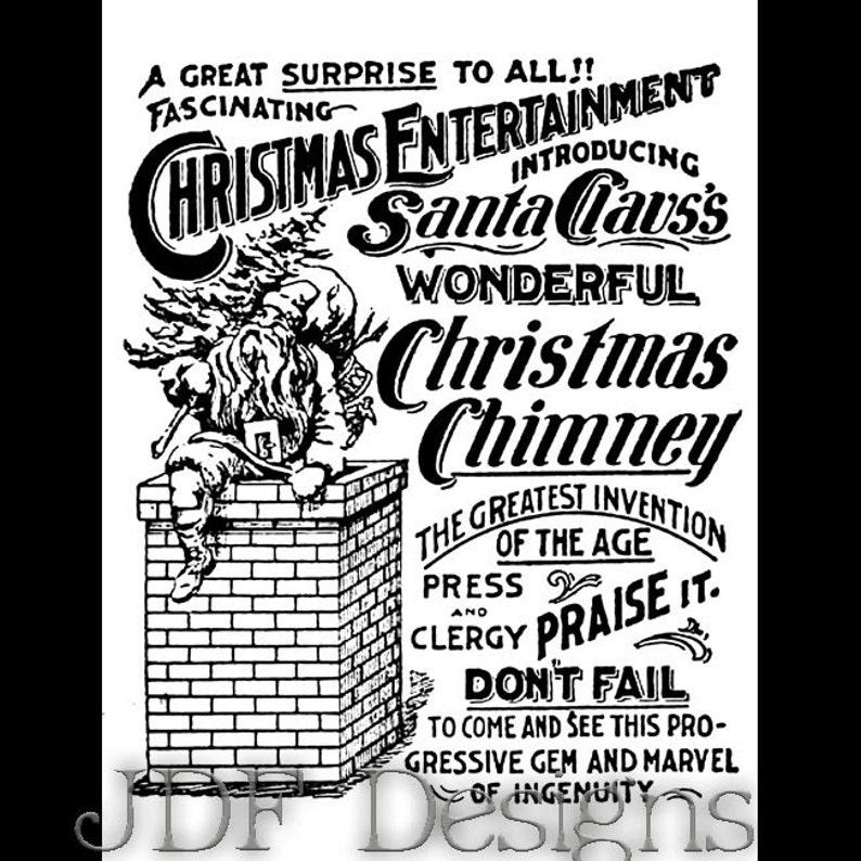Instant Digital Download Vintage Victorian Graphic Christmas image 0