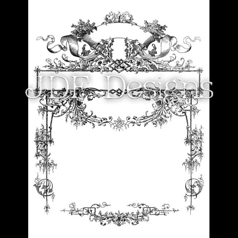 Instant Digital Download Victorian Era Graphic Intricate image 0