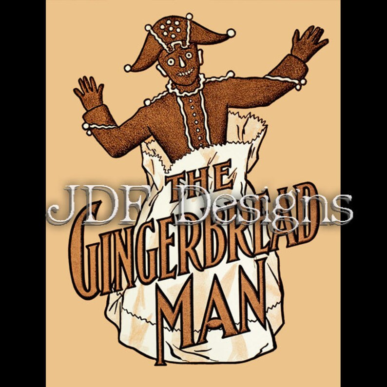 Instant Digital Download Edwardian Graphic The Gingerbread image 0
