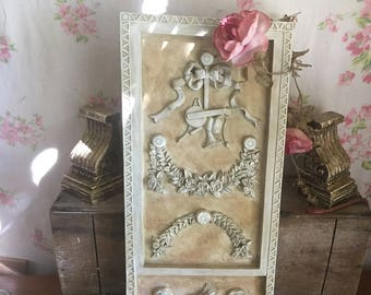large shabby chic wall art bedroom wall decor distressed shabby white wall decor - Shabby Chic Wall Decor