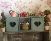 Vintage Curio Cabinet,.Shabby Chic wall cabinet,French Farmhouse decor, Painted wall cabinet,Primitive Cabinet - Nursery storage, girls room