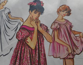Vintage 1950's McCall's 4610 Muu-Muu and Bloomers Sewing Pattern Size Medium 14-16, Bust 34-36