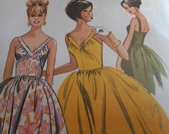 Vintage 1960's McCall's 7208 Dress Sewing Pattern Size 16 Bust 36