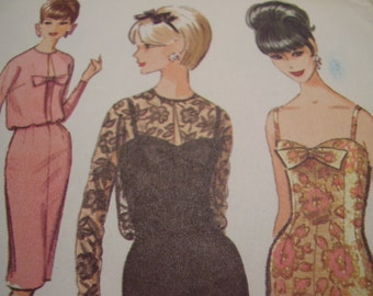 Vintage 1960's McCall's 7511 Dress and Jacket Sewing Pattern, Size 14, Bust 34