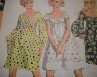 Vintage 1960's McCall's 9715 Dress Sewing Pattern Size 14 Bust 36