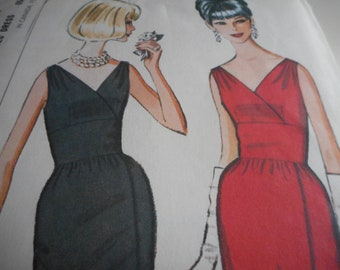 Vintage 1960's McCall's 7485 Dress Sewing Pattern Size 12-14 Bust 32-34