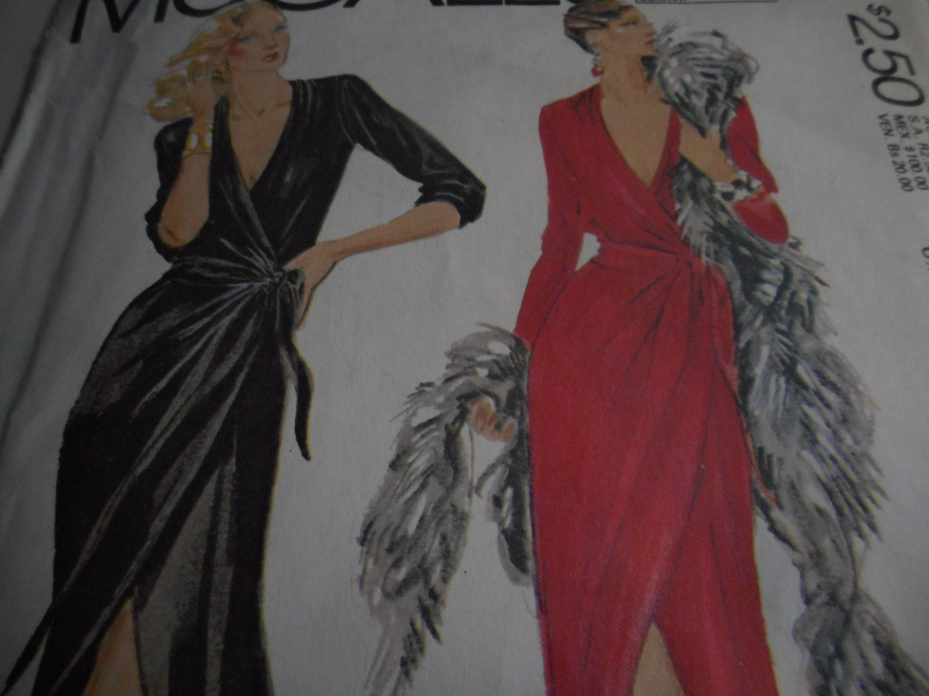 Vintage 1970\'s McCall\'s 6838 Bob Mackie Wrap-Dress Sewing Pattern ...