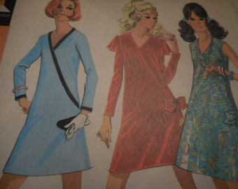 Vintage 1960's McCall''s 2144 Dress Sewing Pattern Size 12 Bust 34