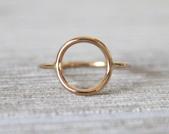 Full Circle Ring//Pink or Yellow 14kt Gold filled//Handcrafted