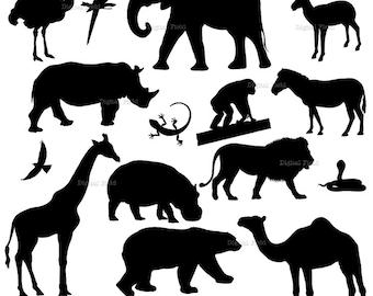 Animal Silhouette Etsy