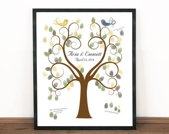 Wedding Tree Guest Book Fingerprint Art