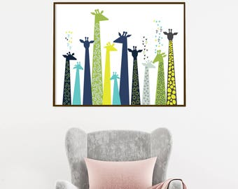 Giraffes of Love Print or Canvas