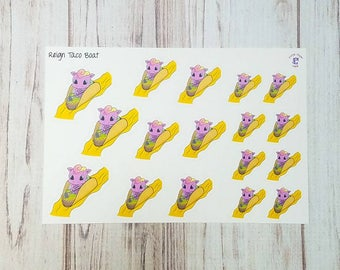 Reign taco boat paddles to Taco Tuesday planner stickers