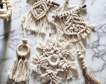 Boho Christmas ornaments