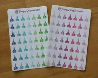 Set of 49 church planner stickers